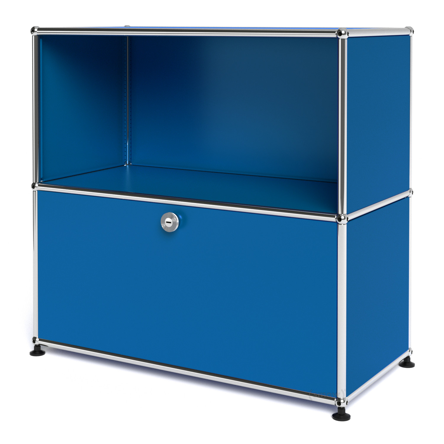 usm haller sideboard m with 1 drop down door gentian blue. Black Bedroom Furniture Sets. Home Design Ideas