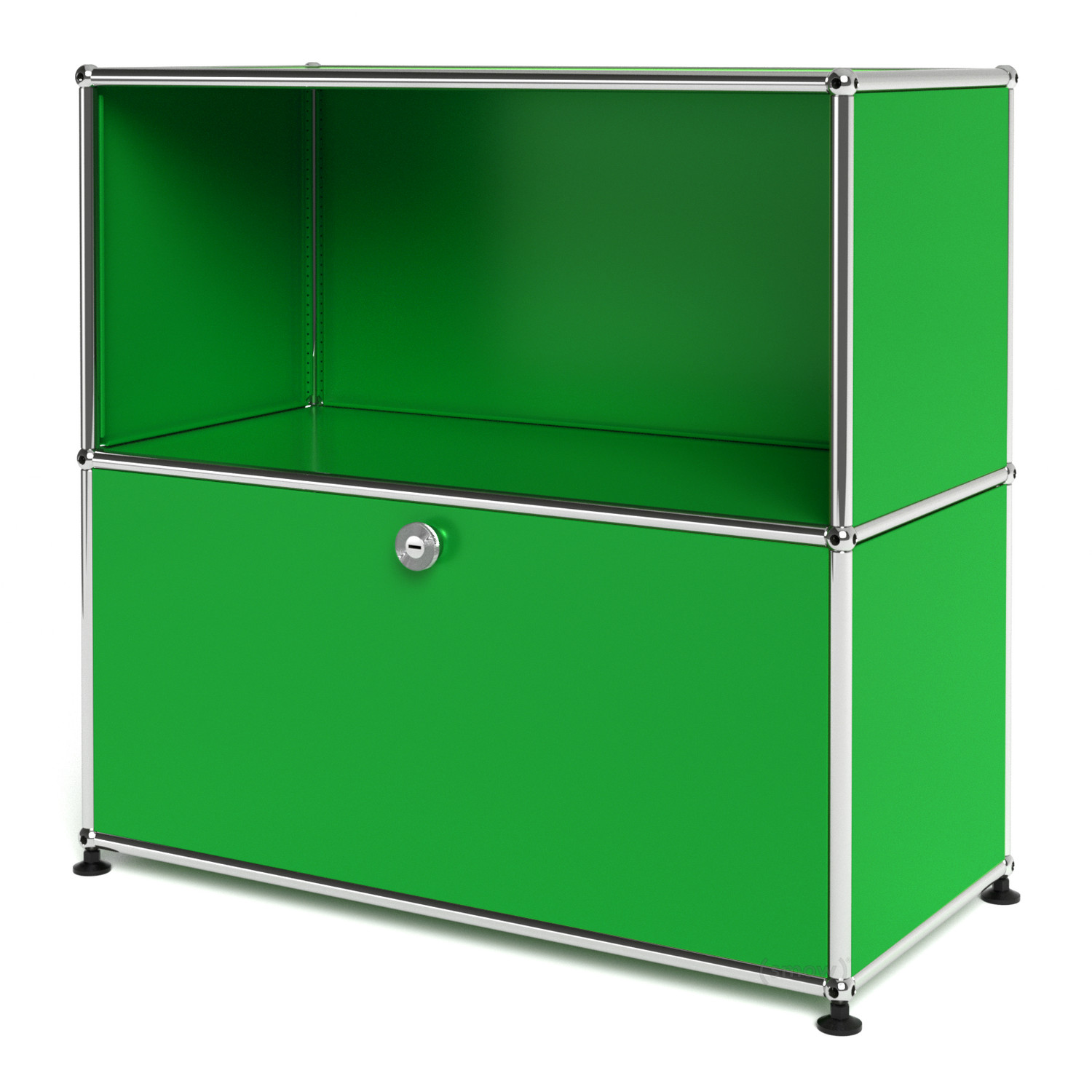 Usm haller sideboard m with 1 drop down door usm green by for Sideboard usm