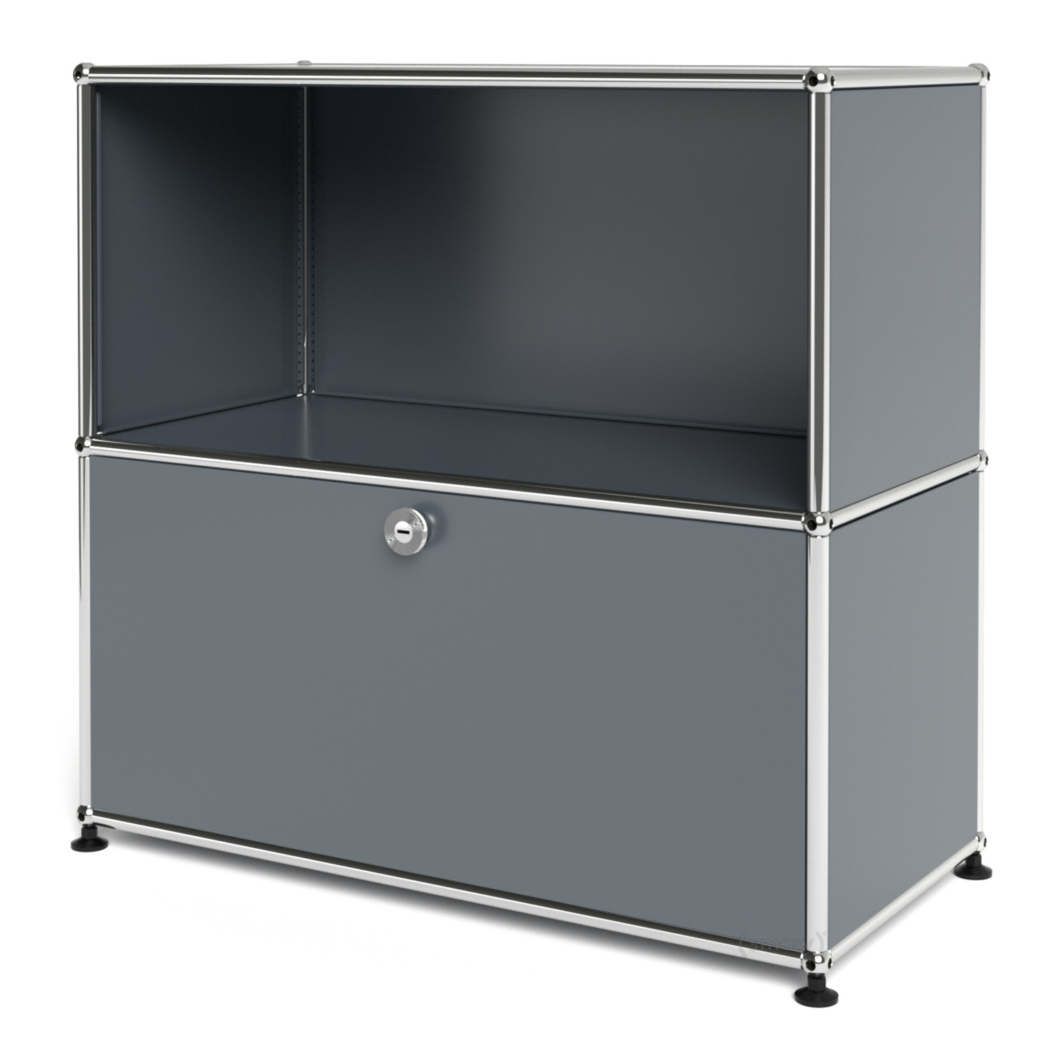 usm haller sideboard m with 1 drop down door mid grey ral. Black Bedroom Furniture Sets. Home Design Ideas