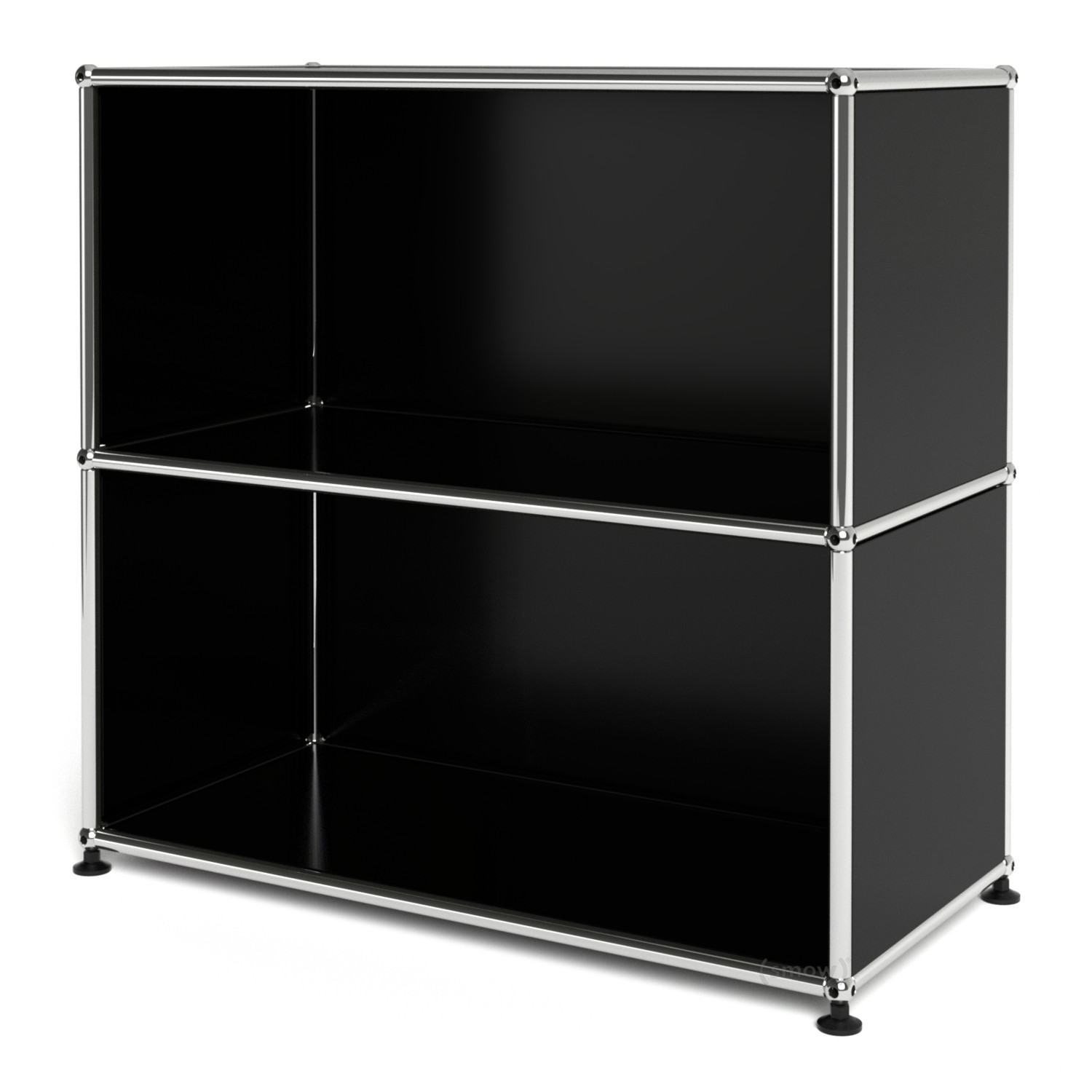 Usm haller sideboard m open graphite black ral 9011 by for Usm haller sideboard weiay