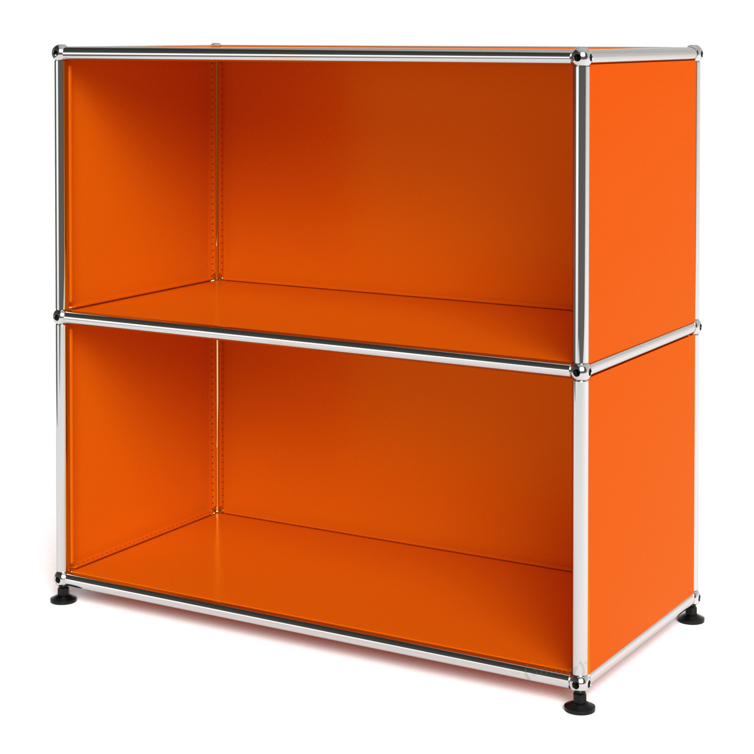 usm haller sideboard m open pure orange ral 2004 by fritz haller paul sch rer designer. Black Bedroom Furniture Sets. Home Design Ideas
