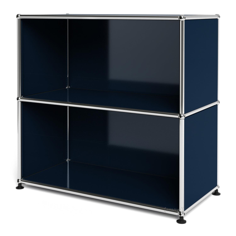 usm haller sideboard m open steel blue ral 5011 by fritz. Black Bedroom Furniture Sets. Home Design Ideas