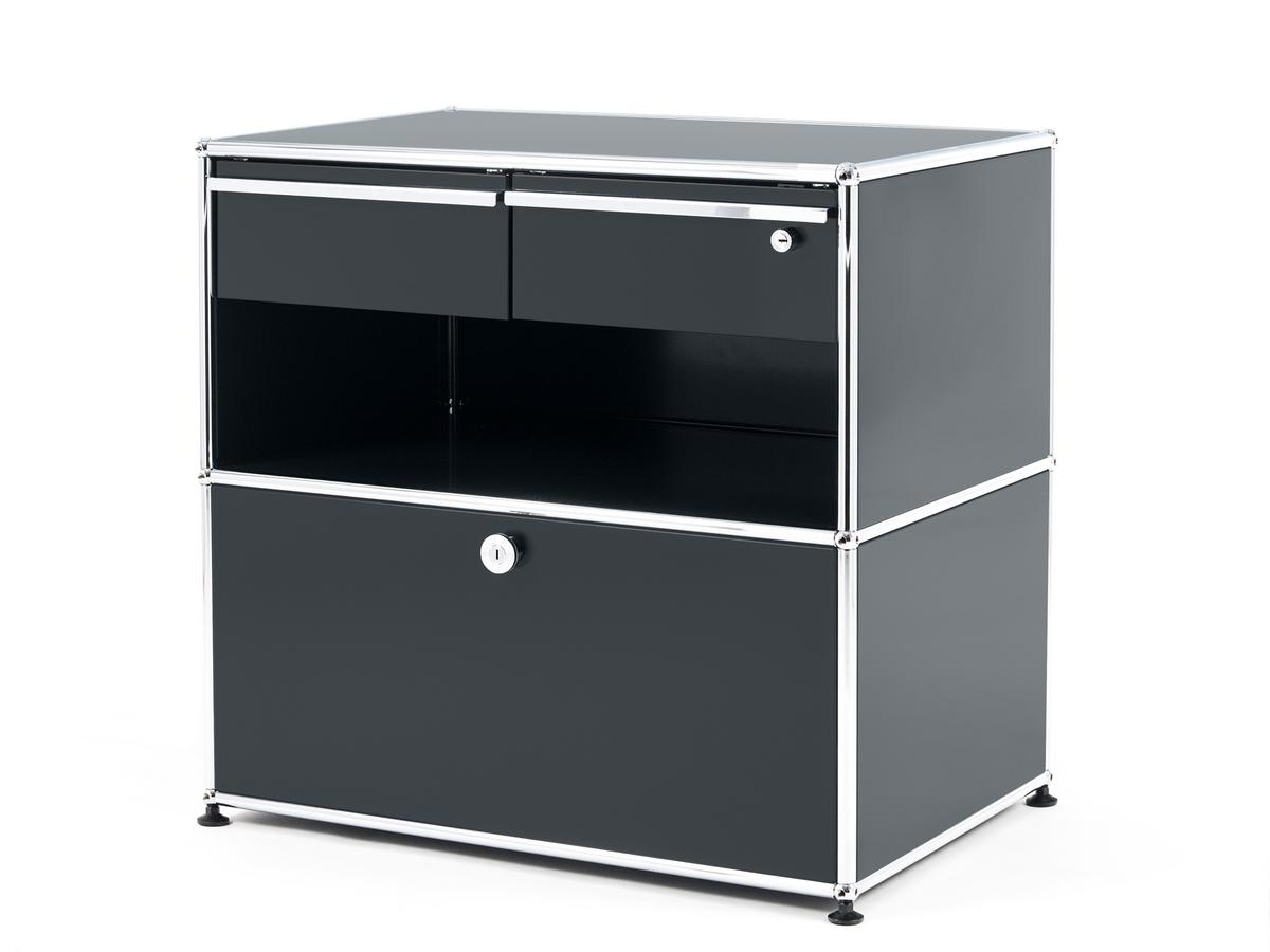 Usm Haller Office Sideboard M With Drawers Anthracite Ral 7016 By