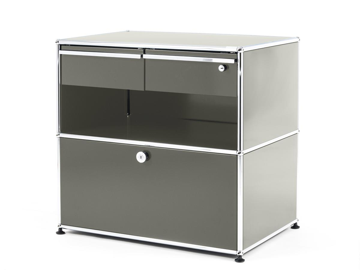 b1e71246d3 USM Haller Office Sideboard M with Drawers, Light grey RAL 7035 by ...