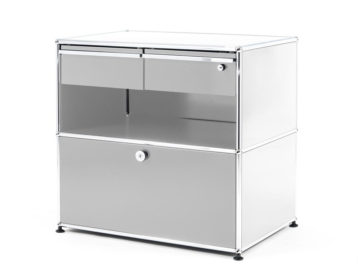 office sideboard. USM Haller Office Sideboard M With Drawers Pure White RAL 9010