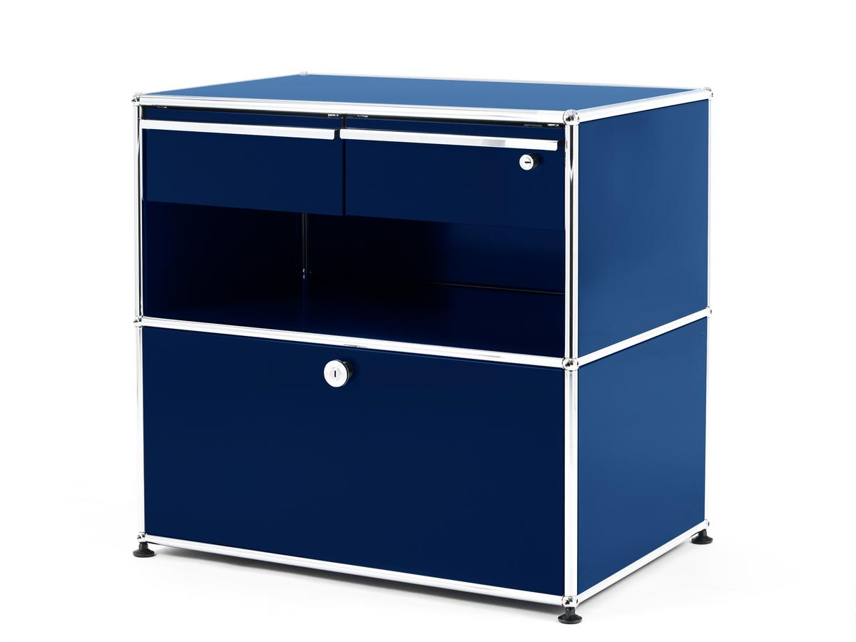 office sideboard. USM Haller Office Sideboard M With Drawers Steel Blue RAL 5011 F