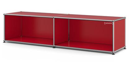 USM Haller Lowboard L open USM ruby red