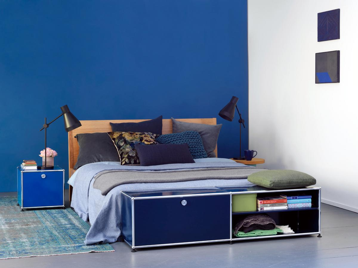usm haller lowboard l open by fritz haller paul sch rer. Black Bedroom Furniture Sets. Home Design Ideas