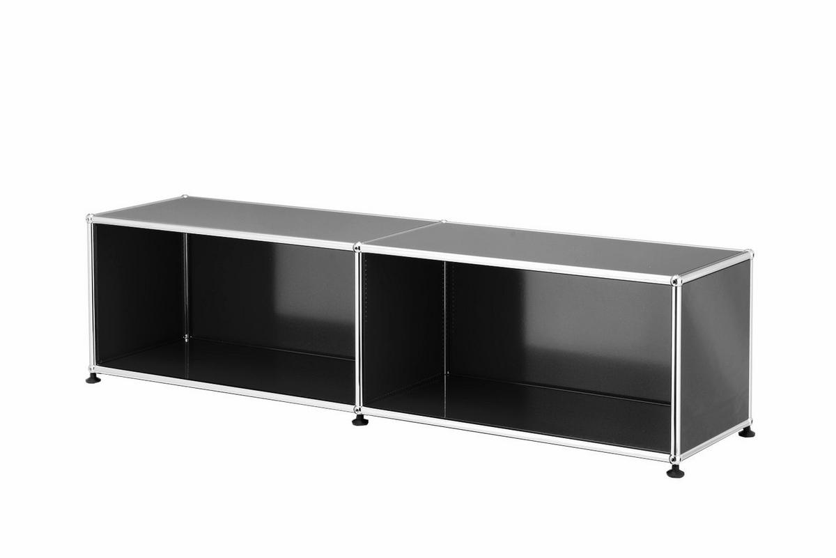 usm haller lowboard l open mid grey ral 7005 by fritz haller paul sch rer designer. Black Bedroom Furniture Sets. Home Design Ideas