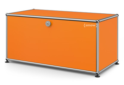 USM Haller Lowboard M, with 1 Drop-down Door Pure orange RAL 2004