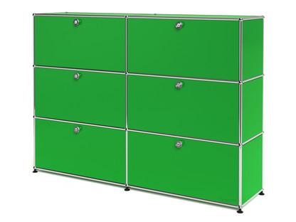 USM Haller Highboard L, Customisable USM green|With 2 drop-down doors|With 2 drop-down doors|With 2 drop-down doors