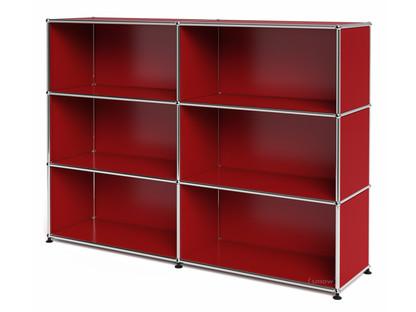 USM Haller Highboard L, Customisable USM ruby red|Open|Open|Open
