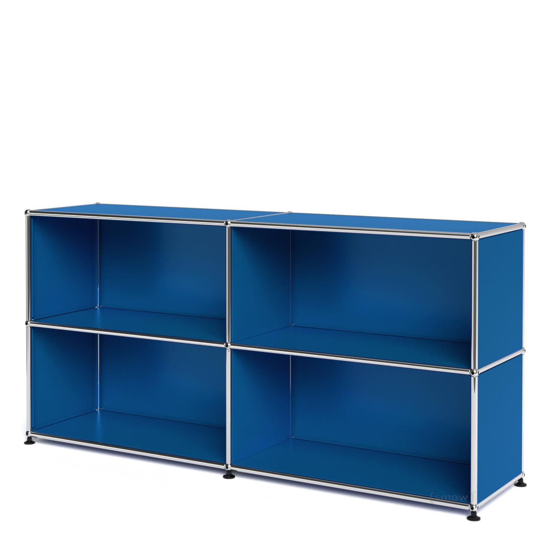 usm haller sideboard l customisable gentian blue ral 5010 open open by fritz haller paul. Black Bedroom Furniture Sets. Home Design Ideas