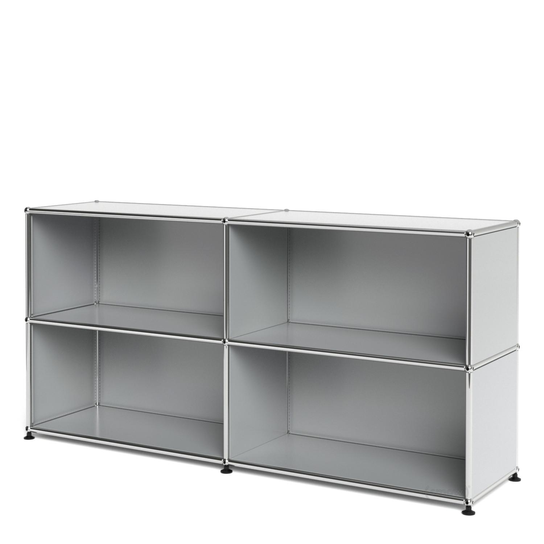 usm haller sideboard l customisable light grey ral 7035 open open by fritz haller paul. Black Bedroom Furniture Sets. Home Design Ideas