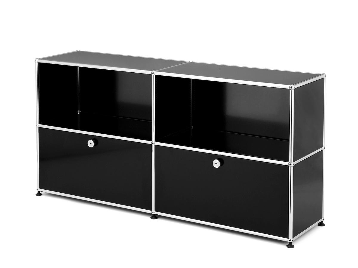 usm haller sideboard l customisable usm beige open. Black Bedroom Furniture Sets. Home Design Ideas