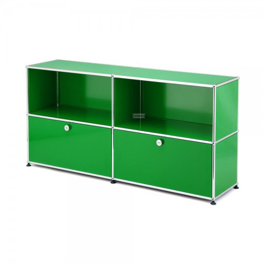 usm haller sideboard l customisable usm green open. Black Bedroom Furniture Sets. Home Design Ideas
