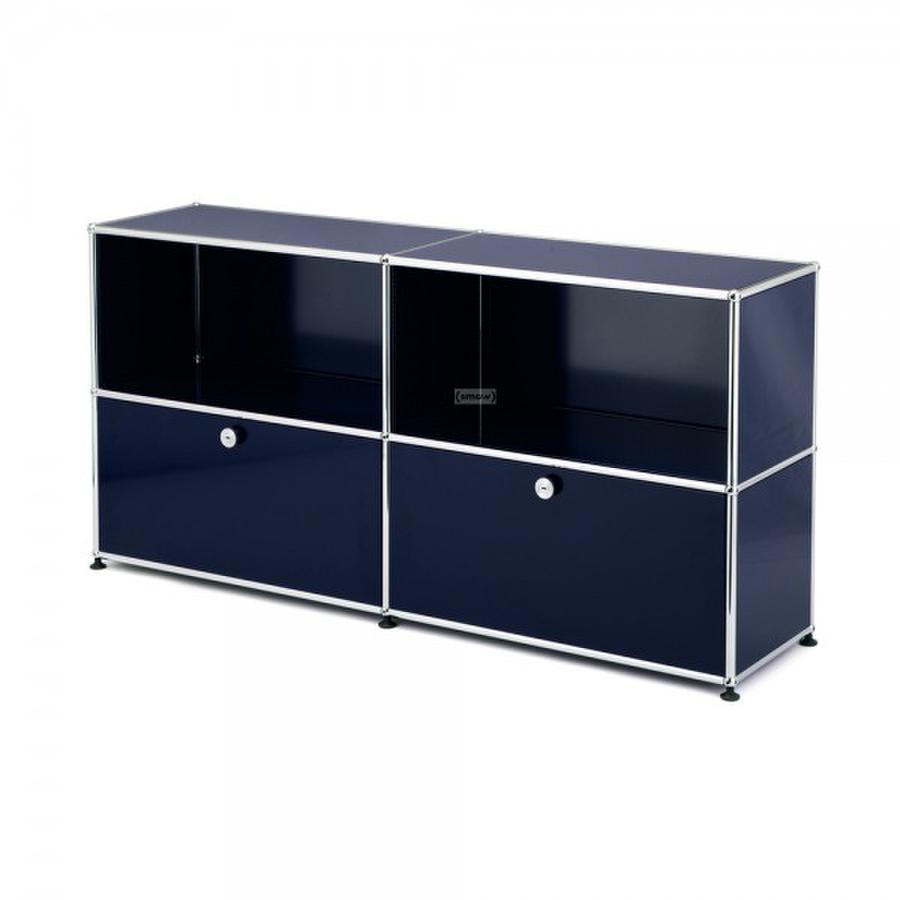Usm haller sideboard l customisable steel blue ral 5011 for Sideboard usm