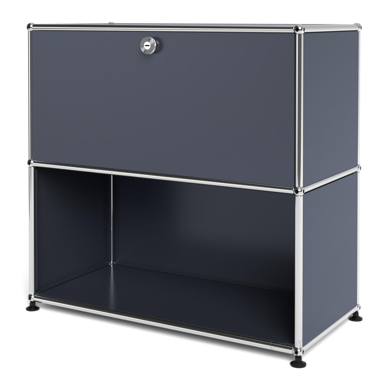 usm haller sideboard m customisable anthracite ral 7016. Black Bedroom Furniture Sets. Home Design Ideas
