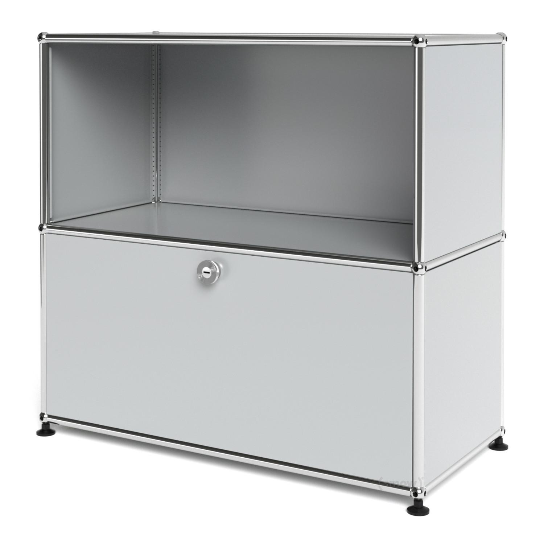 usm haller sideboard m customisable light grey ral 7035 open with drop down door by fritz. Black Bedroom Furniture Sets. Home Design Ideas