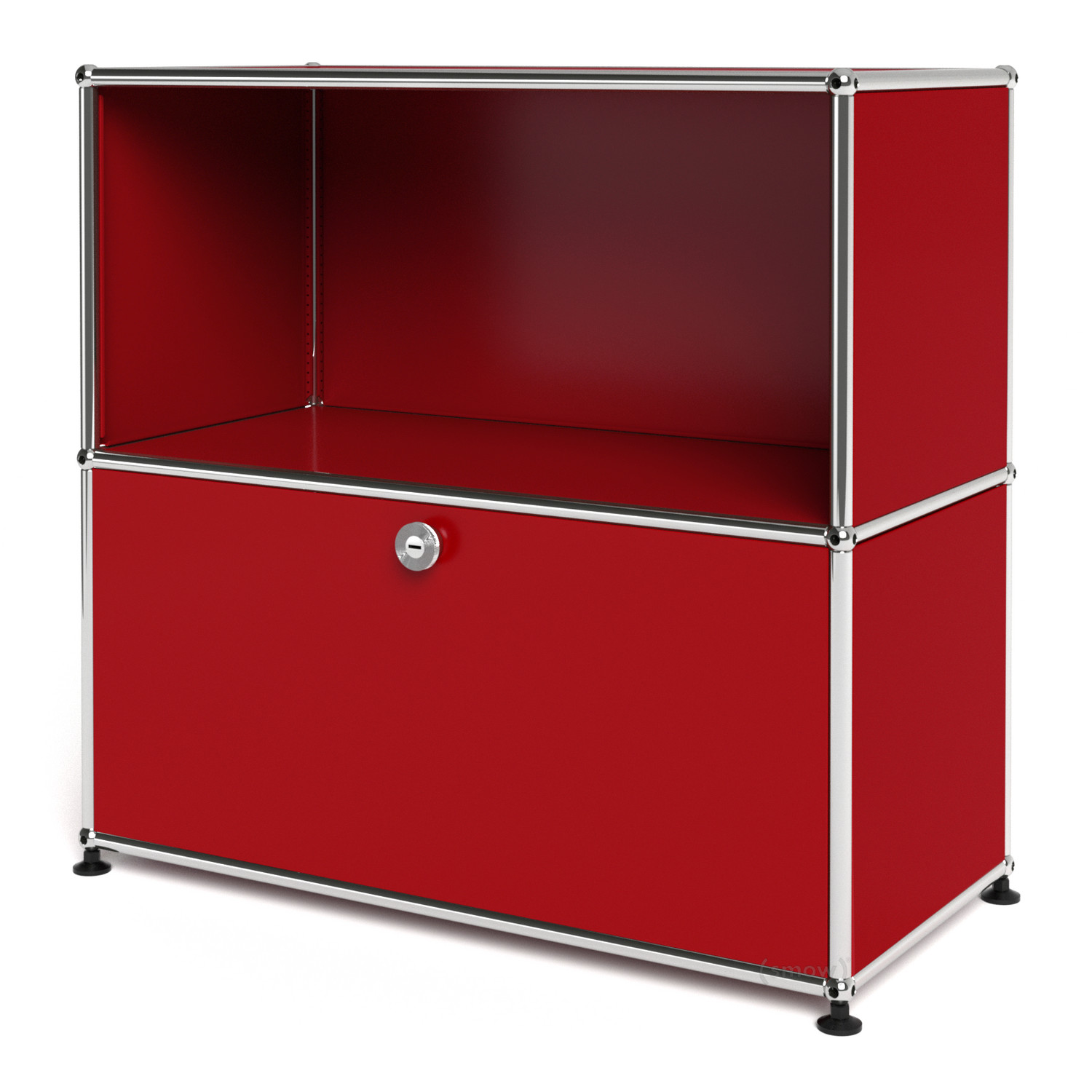 Usm haller sideboard m customisable usm ruby red open for Usm haller sideboard weiay