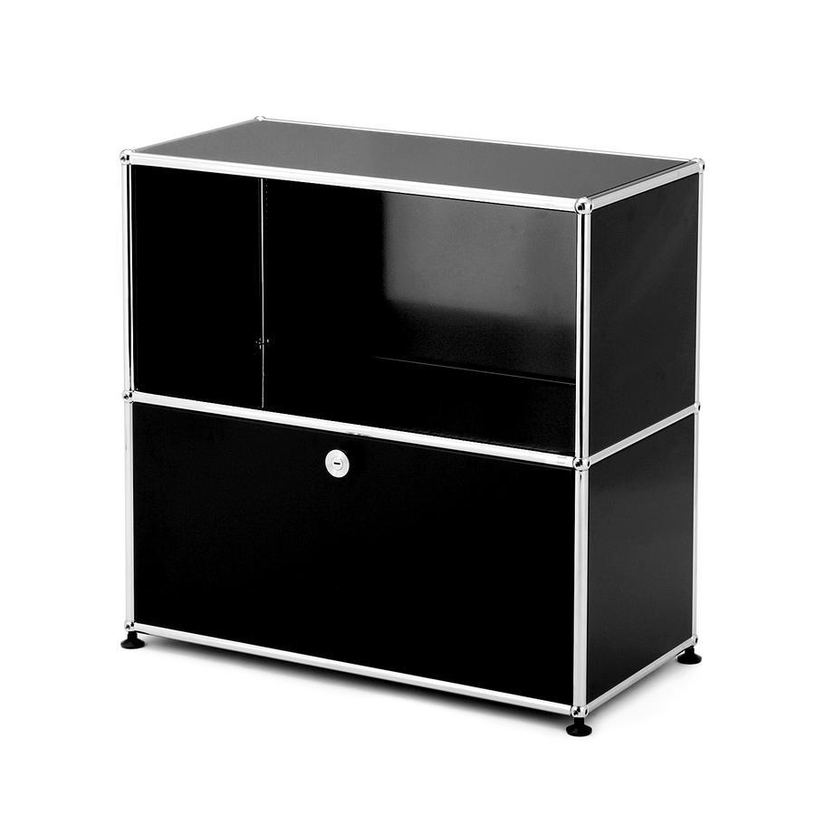 usm haller sideboard m customisable usm ruby red open. Black Bedroom Furniture Sets. Home Design Ideas