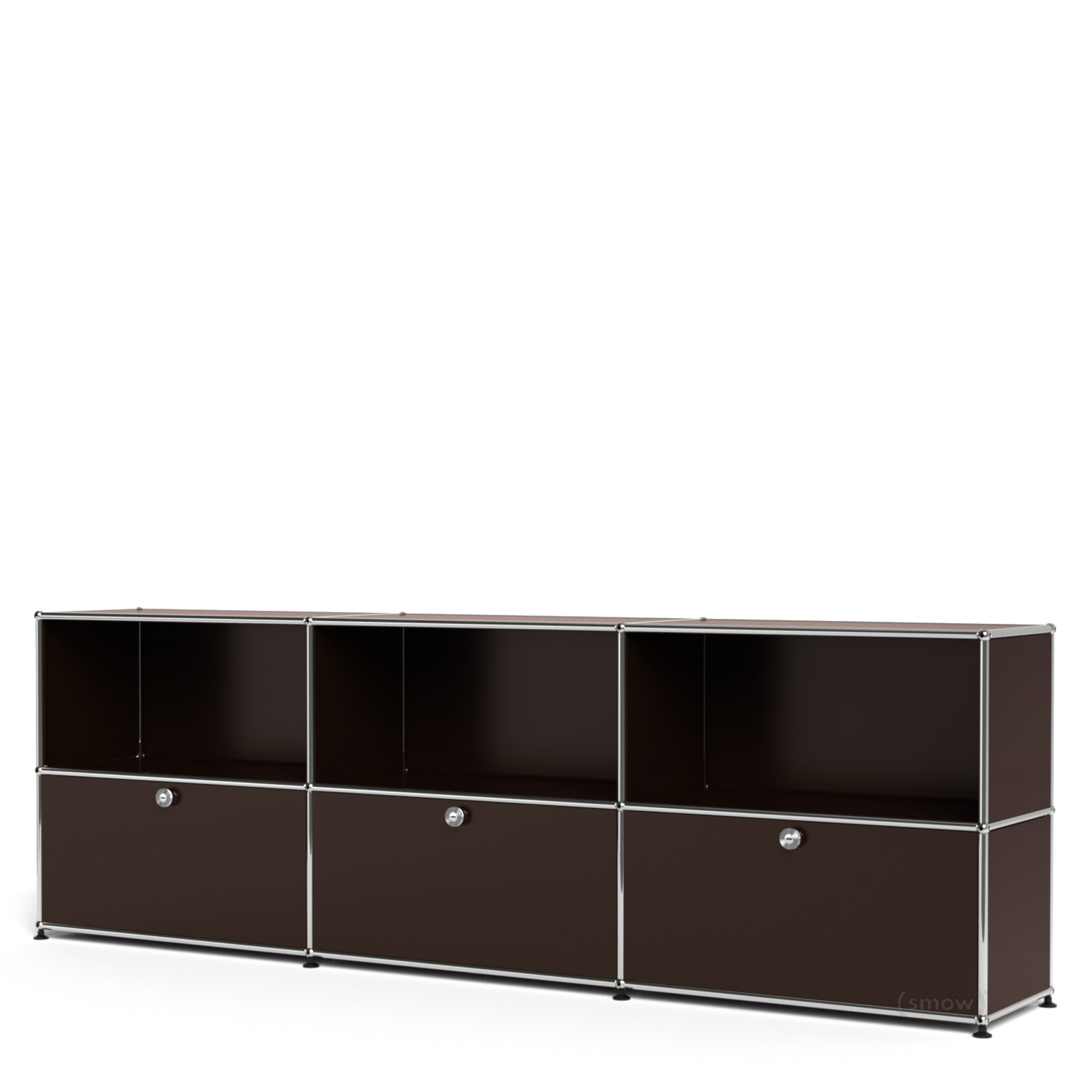Usm haller sideboard xl customisable usm brown open for Usm haller braun