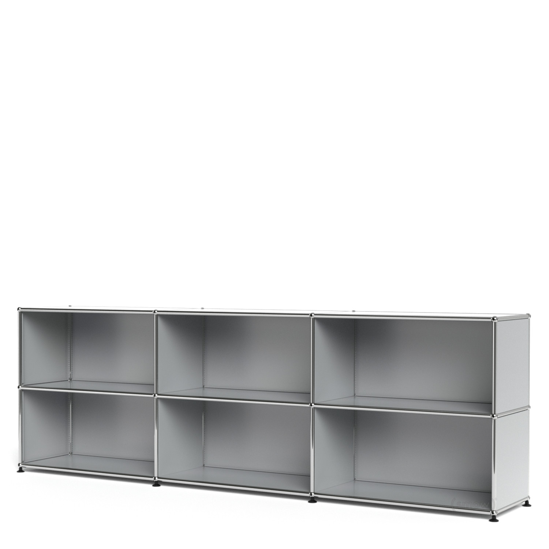usm haller sideboard xl customisable light grey ral 7035 open open by fritz haller paul. Black Bedroom Furniture Sets. Home Design Ideas