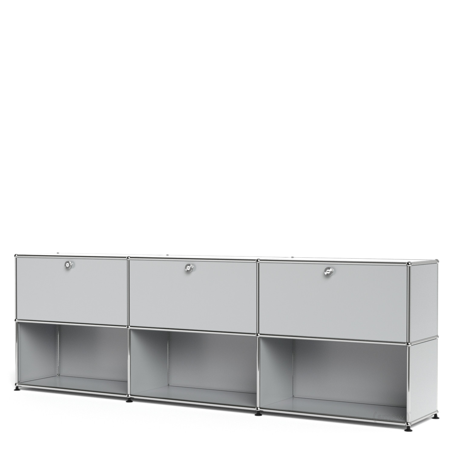 usm haller sideboard xl customisable light grey ral 7035 with 3 drop down doors open by. Black Bedroom Furniture Sets. Home Design Ideas
