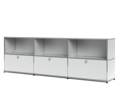 Usm Haller Sideboard Xl Customisable Usm Matte Silver Open With