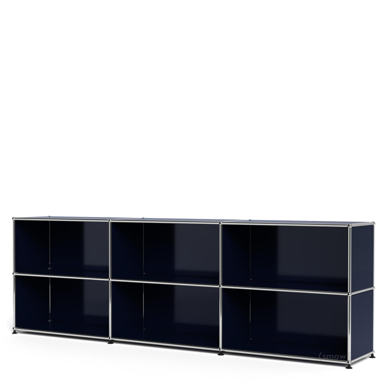 usm haller sideboard xl customisable steel blue ral 5011. Black Bedroom Furniture Sets. Home Design Ideas