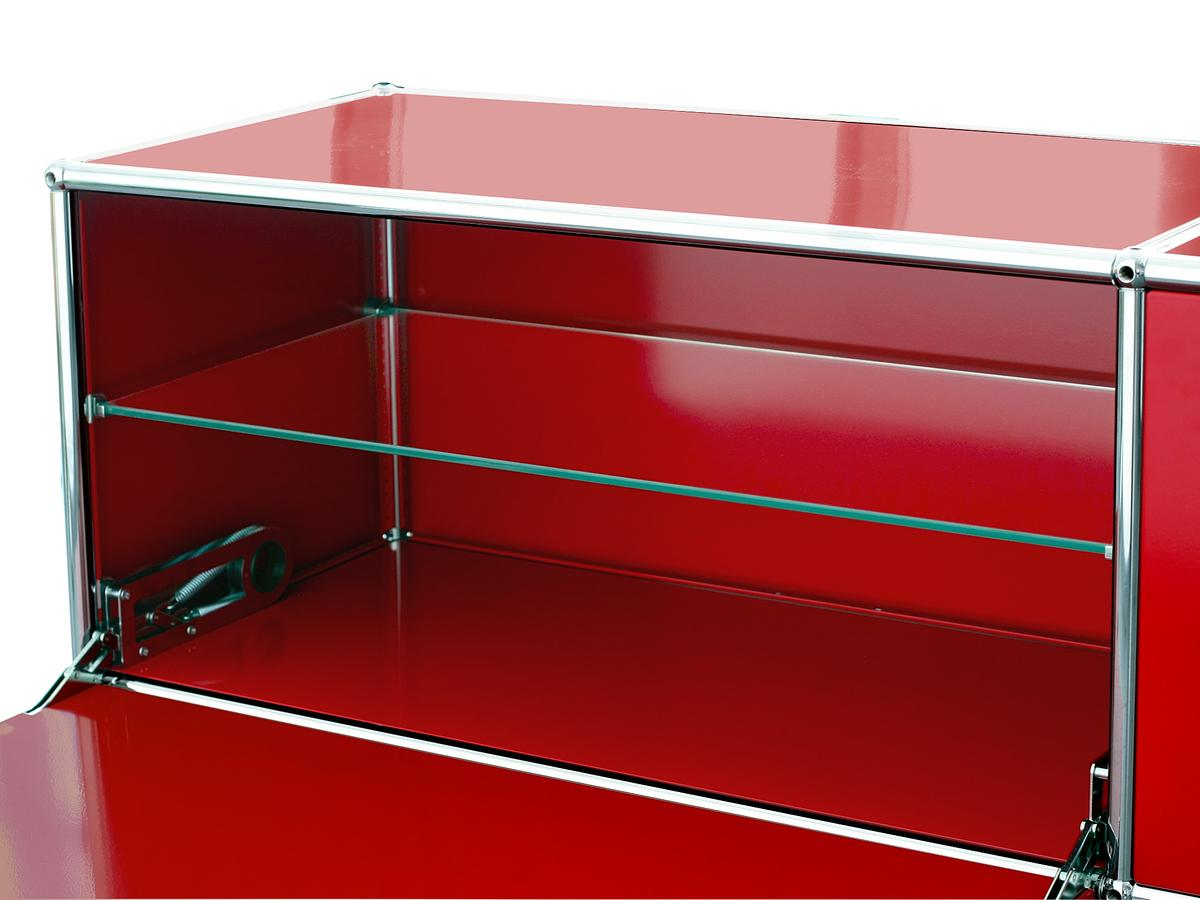 usm haller glass divider shelf for usm haller shelves by usm designer furniture by. Black Bedroom Furniture Sets. Home Design Ideas