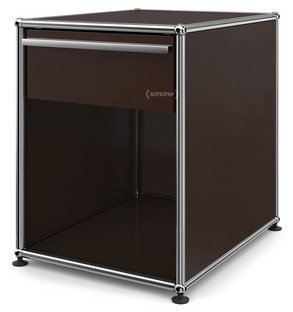 USM Haller Bedside Table with Drawer USM brown|Large (H 54 x W 42,5 x D 53 cm)
