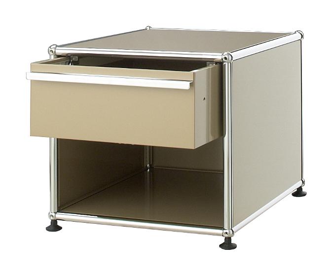 usm haller bedside table with drawer by fritz haller. Black Bedroom Furniture Sets. Home Design Ideas