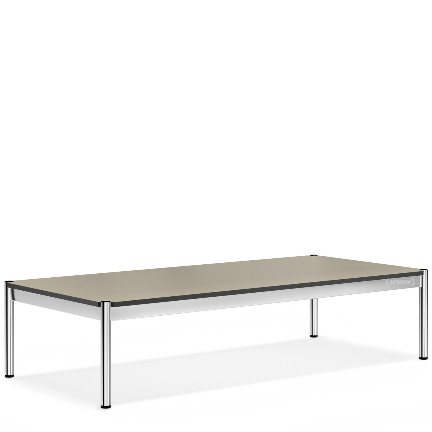 USM Haller Coffee Table 75 X 150 Cm|Linoleum|Pebble