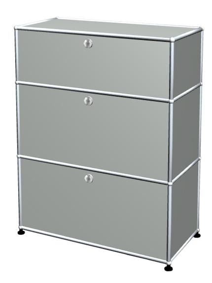 Usm Haller Usm Haller Storage Unit With 3 Drawers H 95 4 X W 75 X D 35 Cm Light Grey Ral 7035