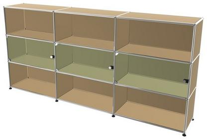 USM Haller Highboard XL with 3 Glass Doors