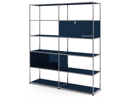 USM Haller Living Room Shelf L Steel blue RAL 5011