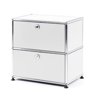 USM Haller Bedside Table with 2 Drop-down Doors
