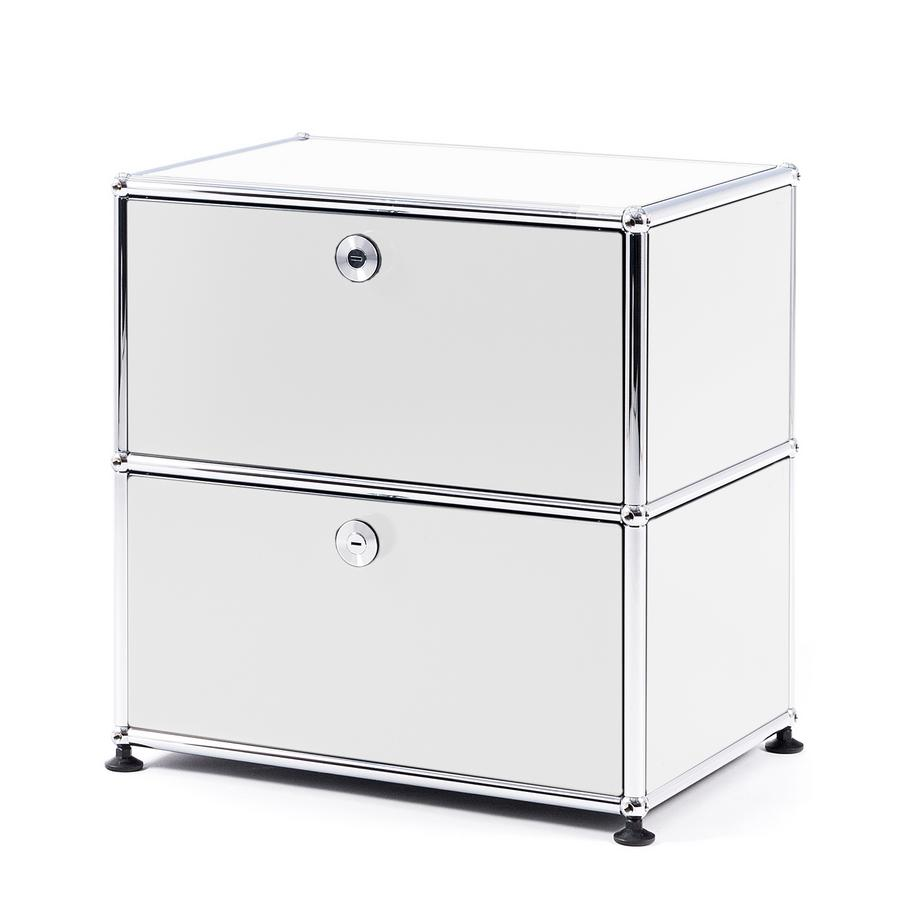 usm haller bedside table with 2 drop down doors by fritz. Black Bedroom Furniture Sets. Home Design Ideas
