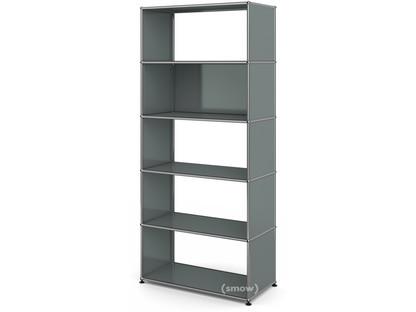 USM Haller Living Room Shelf M 1 back panel|Mid grey RAL 7005