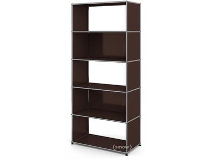 USM Haller Living Room Shelf M 2 back panels|USM brown