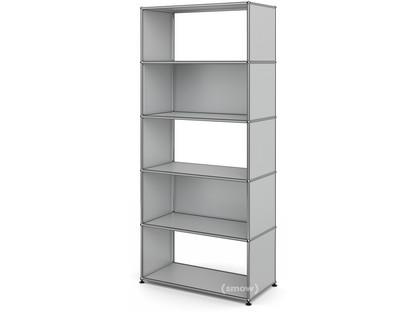 USM Haller Living Room Shelf M 2 back panels|USM matte silver