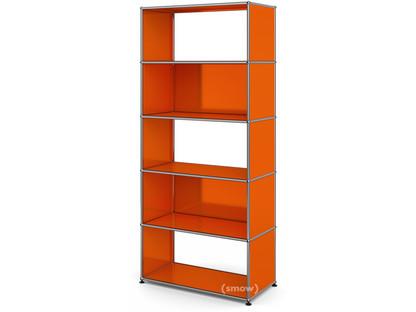 USM Haller Living Room Shelf M 2 back panels|Pure orange RAL 2004