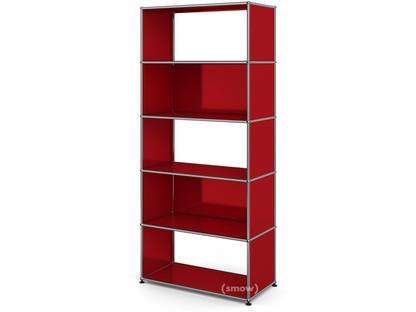 USM Haller Living Room Shelf M 2 back panels|USM ruby red