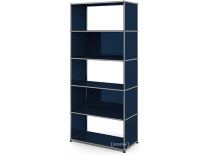 USM Haller Living Room Shelf M 2 back panels|Steel blue RAL 5011
