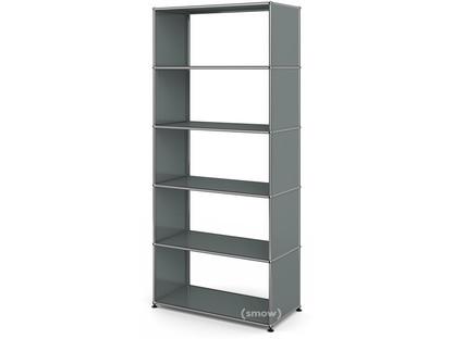 USM Haller Living Room Shelf M without back panel|Mid grey RAL 7005