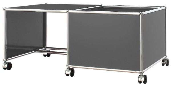 USM Haller Mobile Desk for Kids, Case right, Anthracite RAL 7016 by ...