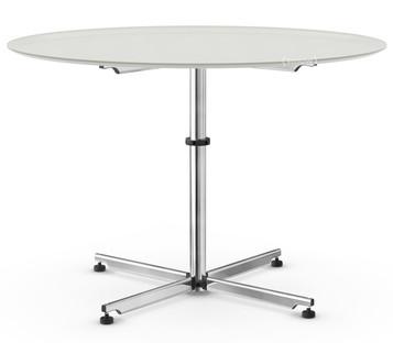 USM Kitos Circular Table Ø 110 cm|Glass|Light grey RAL 7035