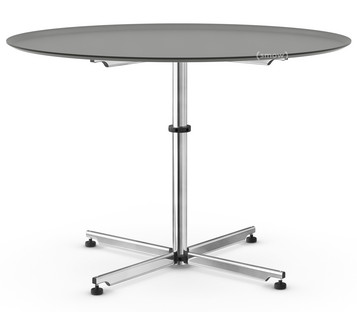 USM Kitos Circular Table Ø 110 cm|Glass|Mid grey RAL 7005