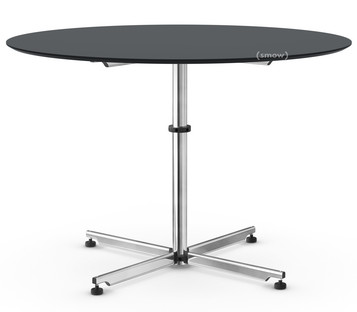 USM Kitos Circular Table Ø 110 cm|Linoleum|Charcoal